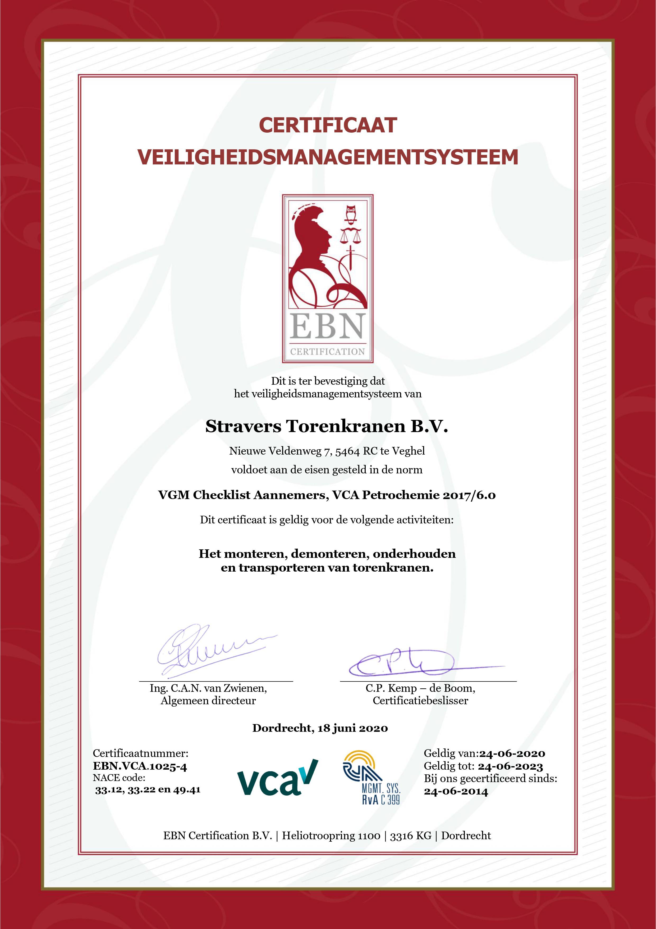 Certificaat VCA-P 2020-2023